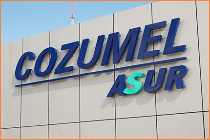 Cozumel airport facade