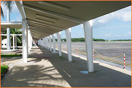 Cozumel airport walkway