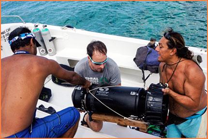 Team prepares equipment