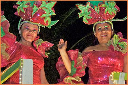 Cozumel Carnival dancing