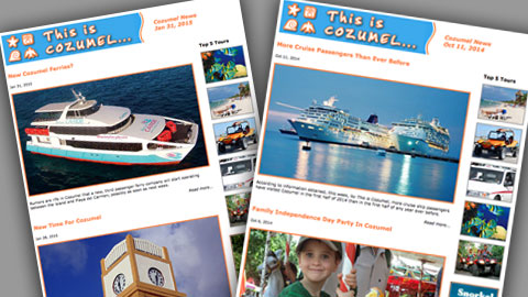 Cozumel newsletters