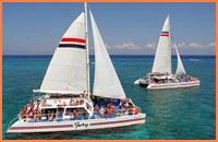 Catamaran tour in Cozumel.