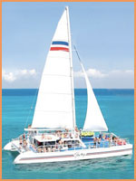 Cozumel catamaran tour.