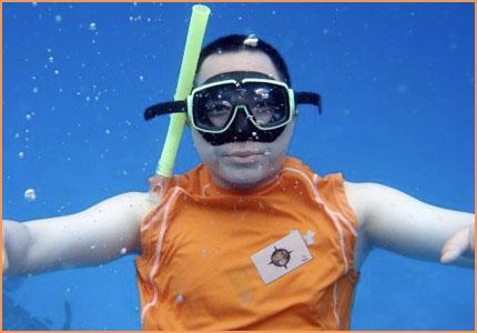 Cozumel snorkel race