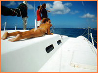 Cozumel trimaran tour.