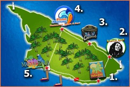 Cozumel island tour route