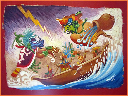 Cozumel Mayan art