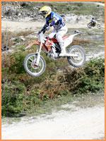 Motocross jump.