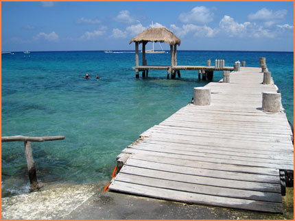 Cozumel snorkel beach break