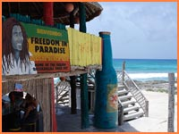 Cozumel beach bar