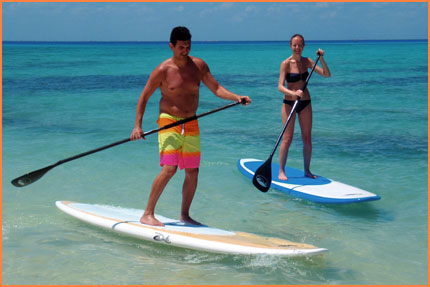 Cozumel stand up paddle course