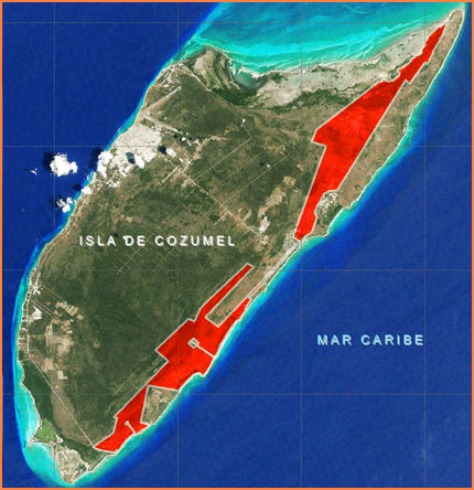 Cozumel wind farm map