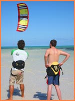 Kiteboarding lessons.
