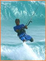 Caribbean kiteboarding.