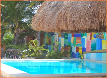 Cozumel beach pool