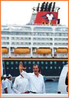 President Fox in Cozumel.