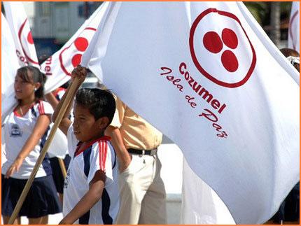 Cozumel peace flag