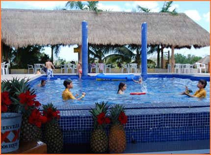 Beach with pool in Cozumel