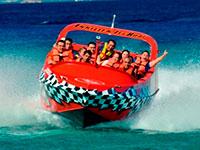 Cozumel jet boat tour.