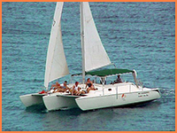Cozumel sailing tour.